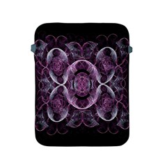 Fractal In Lovely Swirls Of Purple And Blue Apple iPad 2/3/4 Protective Soft Cases