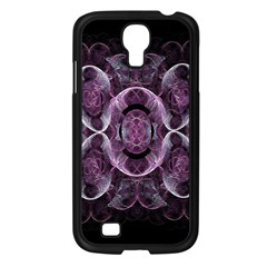 Fractal In Lovely Swirls Of Purple And Blue Samsung Galaxy S4 I9500/ I9505 Case (Black)