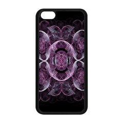 Fractal In Lovely Swirls Of Purple And Blue Apple iPhone 5C Seamless Case (Black)