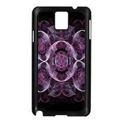 Fractal In Lovely Swirls Of Purple And Blue Samsung Galaxy Note 3 N9005 Case (Black)