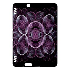 Fractal In Lovely Swirls Of Purple And Blue Kindle Fire HDX Hardshell Case