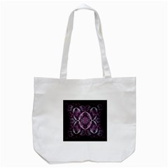 Fractal In Lovely Swirls Of Purple And Blue Tote Bag (White)