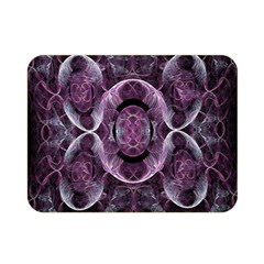 Fractal In Lovely Swirls Of Purple And Blue Double Sided Flano Blanket (Mini)