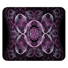 Fractal In Lovely Swirls Of Purple And Blue Double Sided Flano Blanket (small)