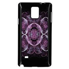 Fractal In Lovely Swirls Of Purple And Blue Samsung Galaxy Note 4 Case (black)