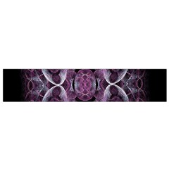 Fractal In Lovely Swirls Of Purple And Blue Flano Scarf (Small)