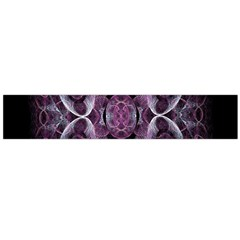 Fractal In Lovely Swirls Of Purple And Blue Flano Scarf (Large)