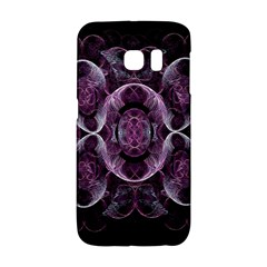Fractal In Lovely Swirls Of Purple And Blue Galaxy S6 Edge