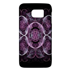 Fractal In Lovely Swirls Of Purple And Blue Galaxy S6