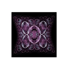 Fractal In Lovely Swirls Of Purple And Blue Satin Bandana Scarf