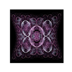 Fractal In Lovely Swirls Of Purple And Blue Small Satin Scarf (Square)