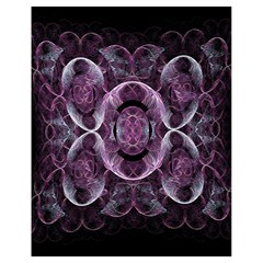 Fractal In Lovely Swirls Of Purple And Blue Drawstring Bag (Small)