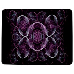 Fractal In Lovely Swirls Of Purple And Blue Jigsaw Puzzle Photo Stand (Rectangular)