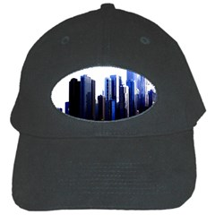 Abstract Of Downtown Chicago Effects Black Cap