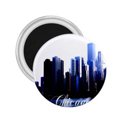 Abstract Of Downtown Chicago Effects 2.25  Magnets