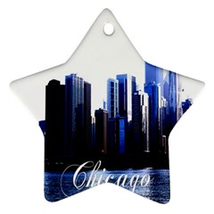 Abstract Of Downtown Chicago Effects Ornament (star)