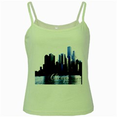 Abstract Of Downtown Chicago Effects Green Spaghetti Tank