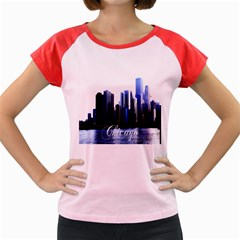Abstract Of Downtown Chicago Effects Women s Cap Sleeve T-Shirt