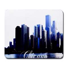 Abstract Of Downtown Chicago Effects Large Mousepads