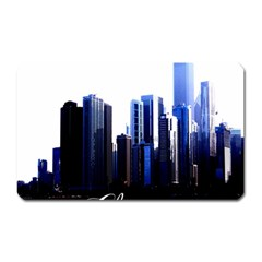 Abstract Of Downtown Chicago Effects Magnet (Rectangular)