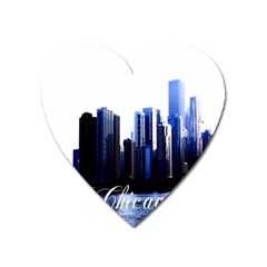 Abstract Of Downtown Chicago Effects Heart Magnet