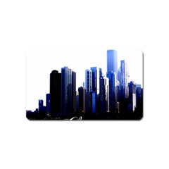 Abstract Of Downtown Chicago Effects Magnet (name Card)