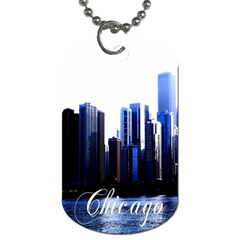 Abstract Of Downtown Chicago Effects Dog Tag (one Side)