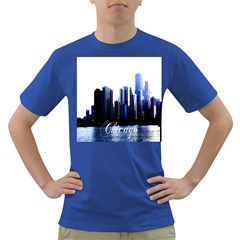 Abstract Of Downtown Chicago Effects Dark T-Shirt