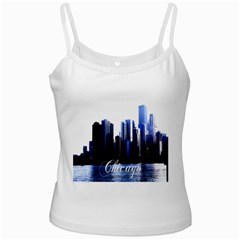 Abstract Of Downtown Chicago Effects Ladies Camisoles