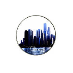 Abstract Of Downtown Chicago Effects Hat Clip Ball Marker