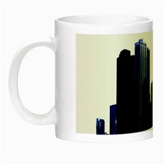 Abstract Of Downtown Chicago Effects Night Luminous Mugs