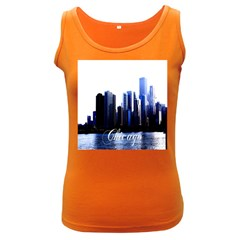 Abstract Of Downtown Chicago Effects Women s Dark Tank Top