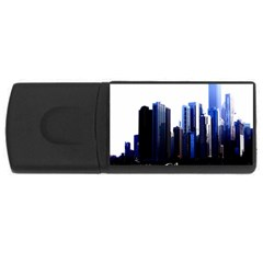Abstract Of Downtown Chicago Effects USB Flash Drive Rectangular (4 GB)
