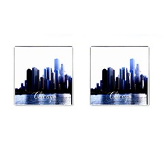 Abstract Of Downtown Chicago Effects Cufflinks (Square)