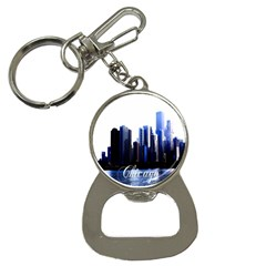 Abstract Of Downtown Chicago Effects Button Necklaces