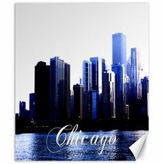 Abstract Of Downtown Chicago Effects Canvas 20  X 24