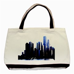 Abstract Of Downtown Chicago Effects Basic Tote Bag (two Sides)