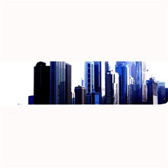Abstract Of Downtown Chicago Effects Large Bar Mats