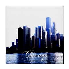 Abstract Of Downtown Chicago Effects Face Towel