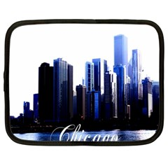 Abstract Of Downtown Chicago Effects Netbook Case (xxl)