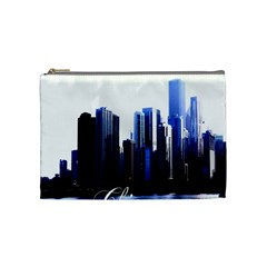 Abstract Of Downtown Chicago Effects Cosmetic Bag (medium)