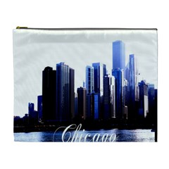 Abstract Of Downtown Chicago Effects Cosmetic Bag (XL)