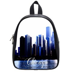 Abstract Of Downtown Chicago Effects School Bags (small)