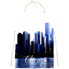Abstract Of Downtown Chicago Effects Full Print Aprons