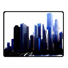 Abstract Of Downtown Chicago Effects Fleece Blanket (small)