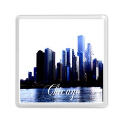 Abstract Of Downtown Chicago Effects Memory Card Reader (square)