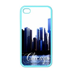 Abstract Of Downtown Chicago Effects Apple iPhone 4 Case (Color)