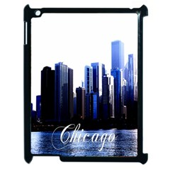 Abstract Of Downtown Chicago Effects Apple iPad 2 Case (Black)