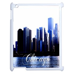 Abstract Of Downtown Chicago Effects Apple iPad 2 Case (White)