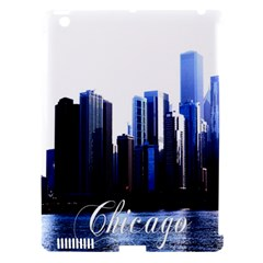 Abstract Of Downtown Chicago Effects Apple iPad 3/4 Hardshell Case (Compatible with Smart Cover)
